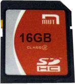 MUT Class 2 16GB SD Card